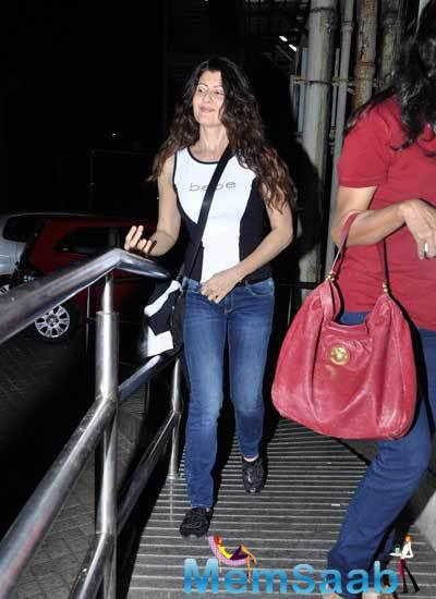 Sangeeta Bijlani Spotted To Attend A Party At PVR Juhu