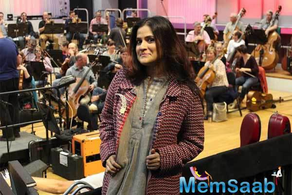 Sona Mohapatra Cute Look Still During The Rehearsal