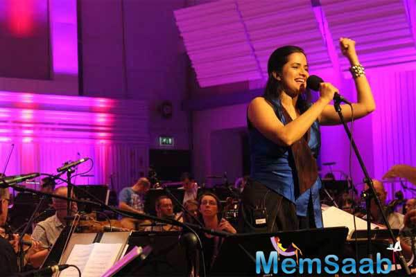Sona Mohapatra Rehearsal Still With The BBC Philharmonic In London