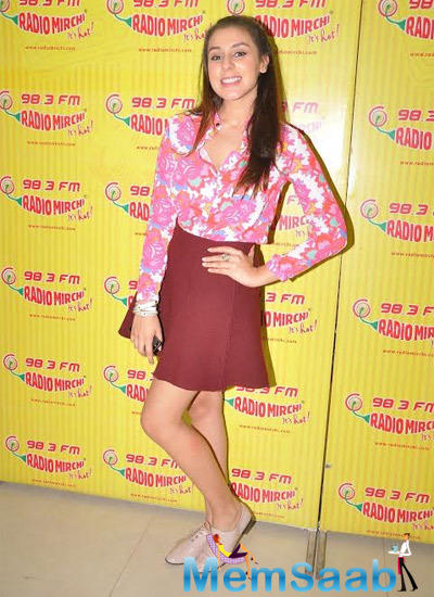 Anindita Nayar Posing For Shutterbug At Promotional Event Of 3 AM