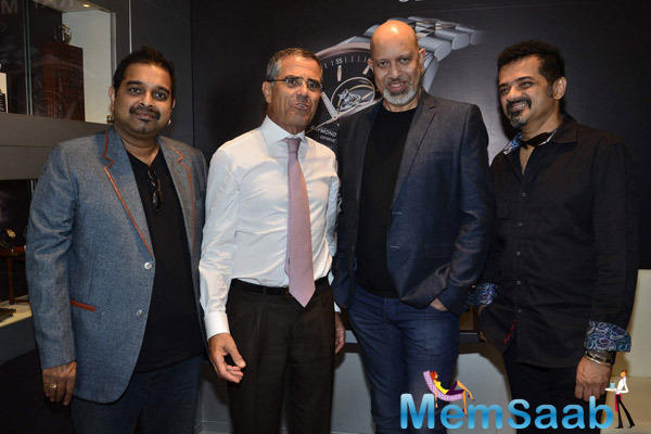 Shankar,Loy And Ehsaan Clicked During The Launch Of Raymond Weil Boutique Store