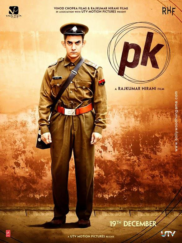 Aamir Khan Posed In A Police Uniform Angry Look For PK Movie Poster