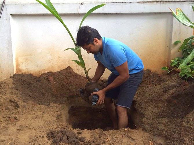 Suriya Plant A Tree At My Tree Challenge Event