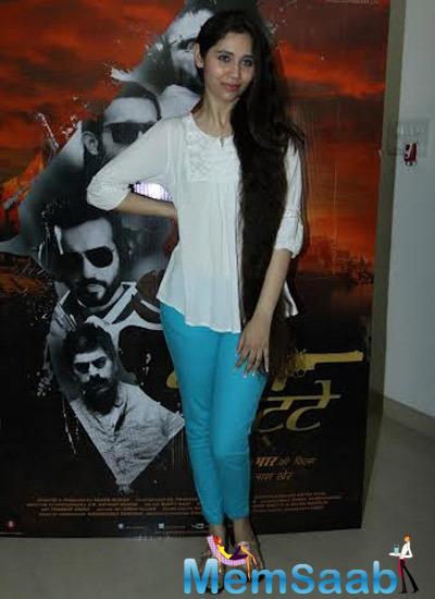 Sasha Agha Posed During The Film Desi Kattey Press Meet In Mumbai