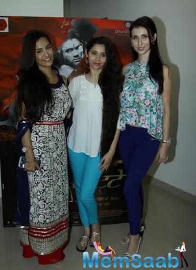Tia Bajpai,Sasha Agha And Claudia Ciesla Attend The Press Meet Of Desi Kattey Movie