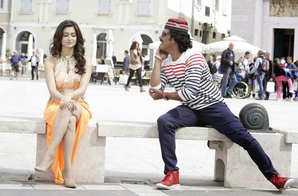 Kriti Kharbanda And Upendra Rao A Still From Kannada Movie Super Ranga