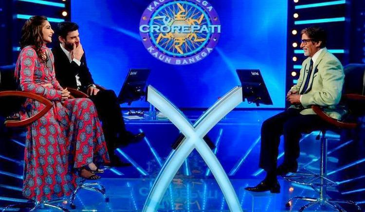 Sonam And Fawad Play On The Sets Of KBC With Big B During The Promotion Of Khoobsurat