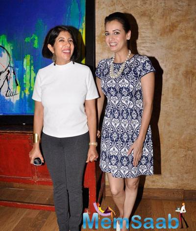 Dia Mirza Strikes A Pose During The Art Exhibition By Jayam Lamba