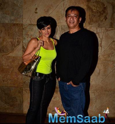 Mandira With Hubby Raj Unveiled The Khoobsurat Special Screening