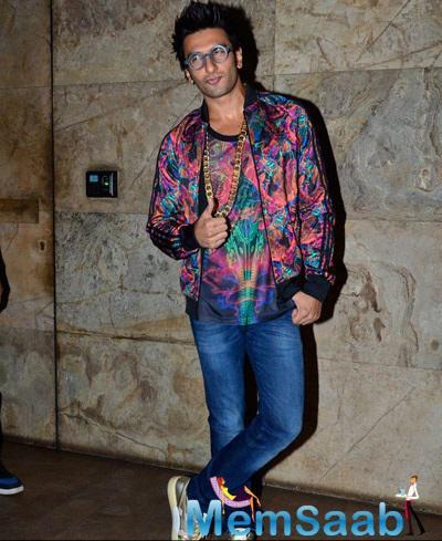 Ranveer Singh Was Electrifying At The Khoobsurat Screening