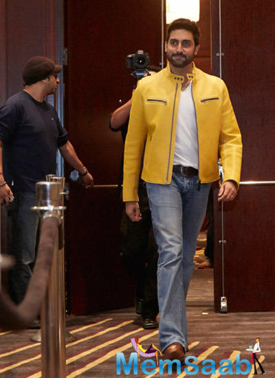 Abhishek Arrives At Slam! The Tour Press Conference Concert At Toyota Center