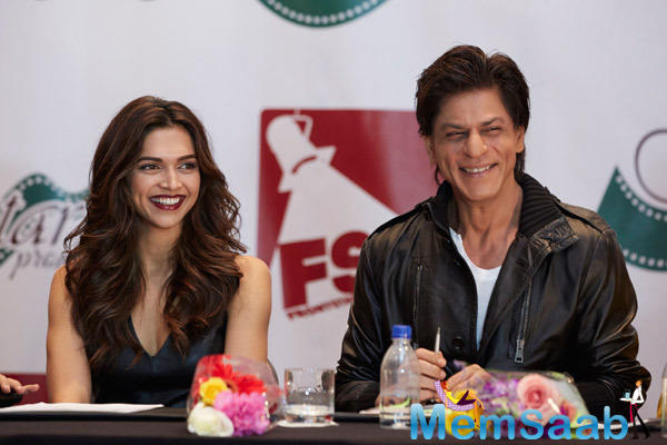 Slam! The Tour-Houston Press Conference Deepika And SRK Couldn't Stop Smiling