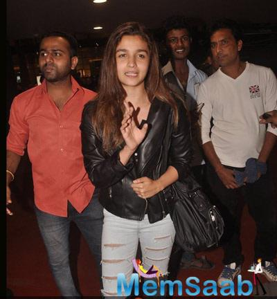 Alia Bhatt Is Clicked At The Airport As She Returned From London