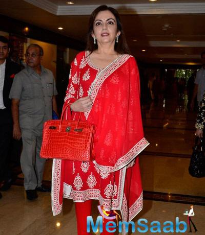 Nita Ambani Spotted At 30th Anniversary Priyadarshini Global Awards