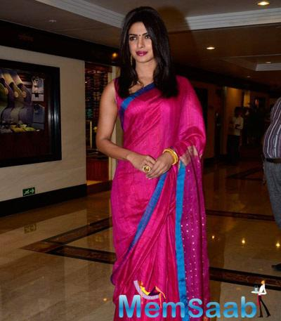 Priyanka Recieved 30th Anniversary Priyadarshini Global Awards At The Trident In Mumbai