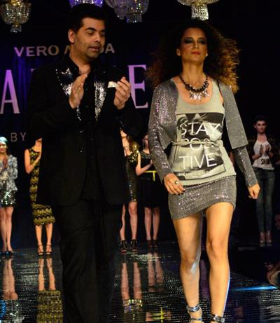 Kangana Walks As The Ramp As Showstopper For Karan Johar Designed VMMC