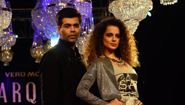 Karan Pose With Kangana On The Stage Of Vero Moda Fashion Collection