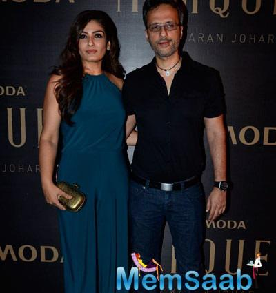Raveena With Hubby Spotted At The Launch Of Karan's Vero Moda's New Collection Marquee