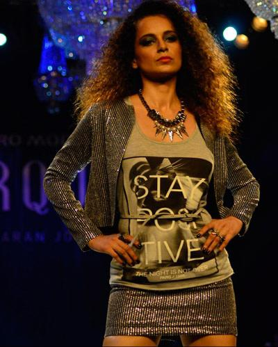 Style Icon Kangana Walks The Ramp At Vero Moda Collection By Karan