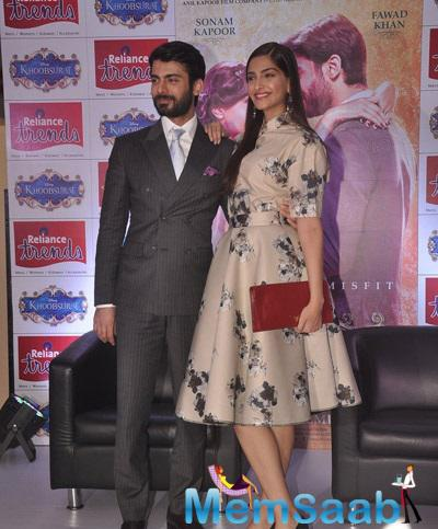 Sizzling On Screen Couple Sonam And Fawad At Reliance Trends Store