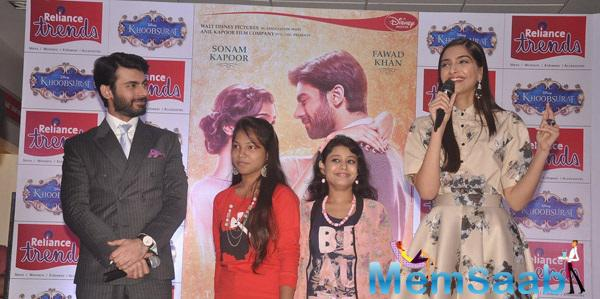 Sonam And Fawad Were At Reliance Trends Store At A Meet And Greet With Fans