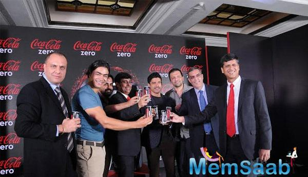 Farhan Aktar At The Launch Of Coke Zero In India