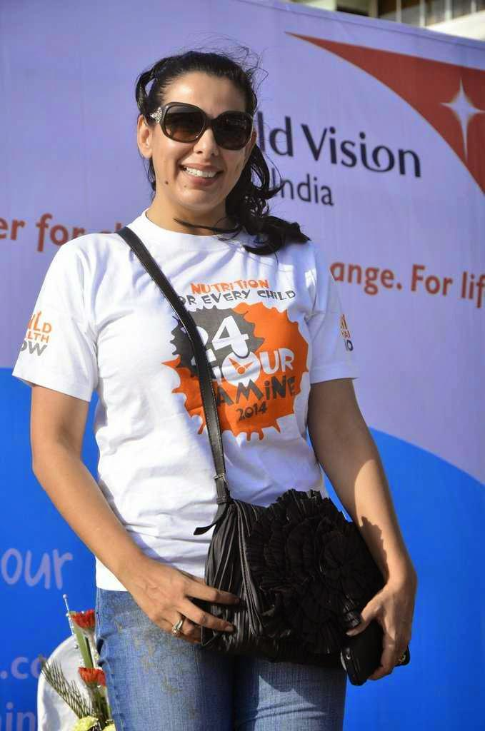 Pooja Bedi During The World Vision Walkathion For Nutrition