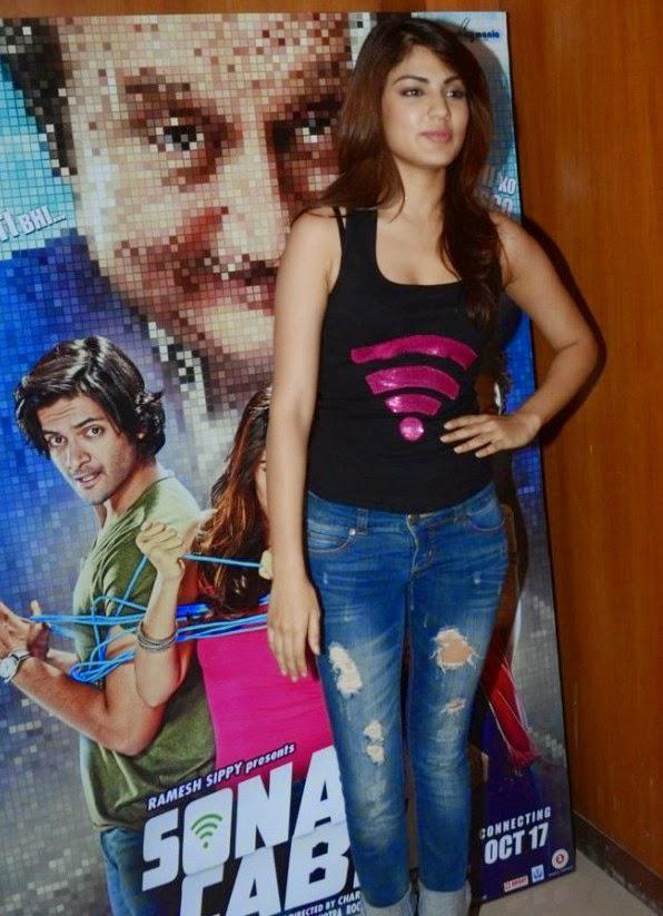 Rhea Chakraborty Strikes A Pose During The Screening Of Sonali Cable At Local College