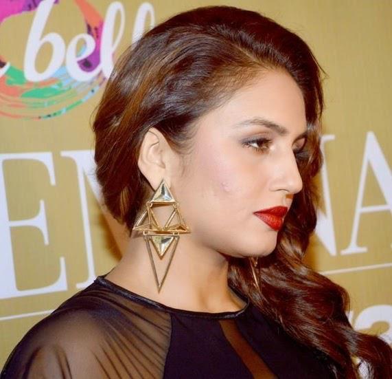 Huma Qureshi Gorgeous Red Lippy Look At Femina Style Diva Award 2014 Finals