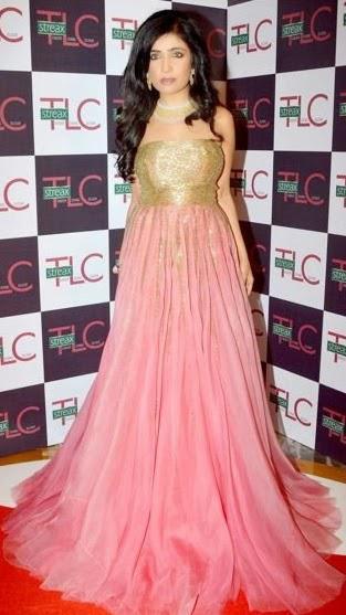 Shibani Kashyap Posed In Red Carpet At Femina Style Diva Award 2014 Finals