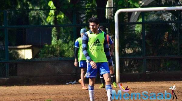 Abhishek Bachchan Ready To Play Football At Sacred Heart Boys High School Khar