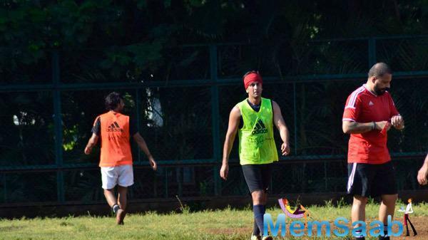 Ranbir Kapoor Practicing Football At Sacred Heart Boys High School Khar