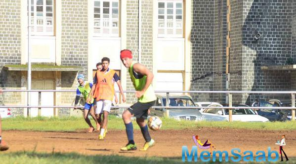 Ranbir Kapoor Spotted Playing Football On Sunday Afternoon
