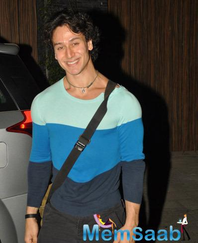 Tiger Shroff Flashes Smile While He Spotted At Bandra