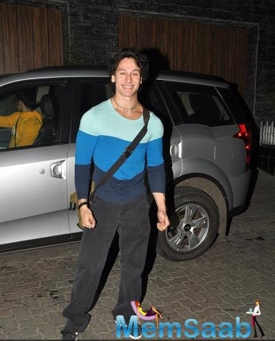 Tiger Shroff Snapped At Bandra In Mumbai