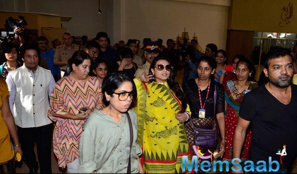 Rani Mukerji Arrived To Attend Make Way For Ambulance Awareness Event