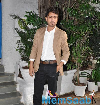 Irrfan Khan Pose With A Dashing Look Outside Of Olive Restaurant