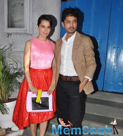 Kangana And Irrfan Clicked At Outside Of Olive Bar And Kitchen