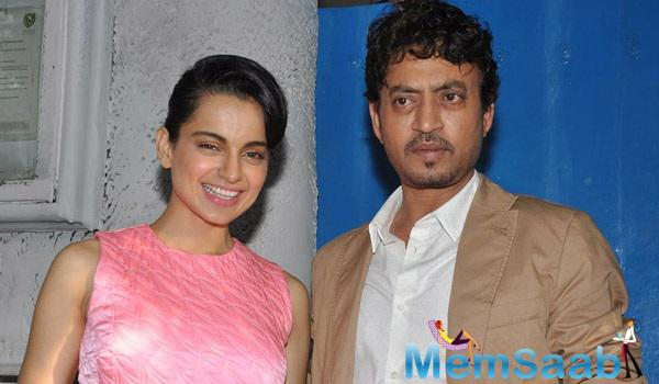 Kangana And Irrfan Were Snapped Together At A Popular Mumbai Restaurant Post A Meeting