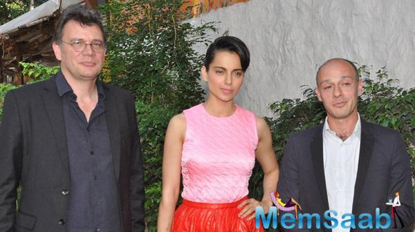 Kangana At Olive Restaurant For A Meeting About Her New Movie