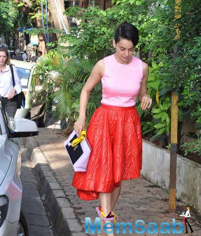Kangana Ranaut Outside Of Olive Restaurant Attended A Meeting