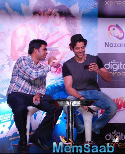 Hrithik Roshan Looks On During A Promotional Event For  Bang Bang In Mumbai