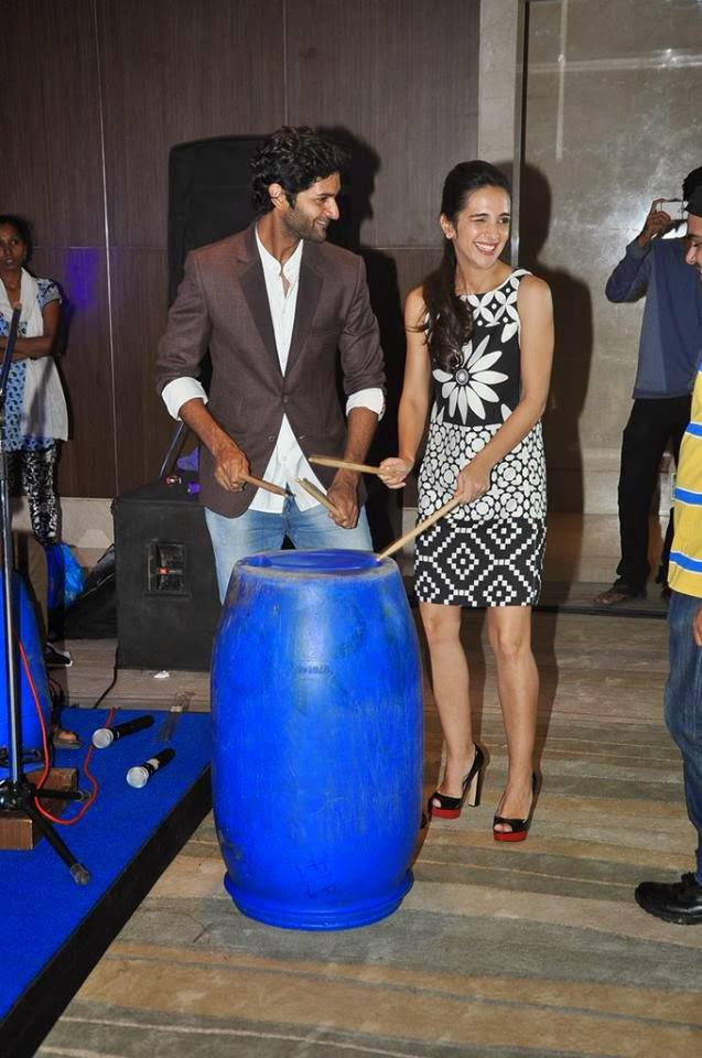 Purab And Tara Enjoy And Fun With Sticks And Drum During Footsteps Good NGO's Fund-Raising Event