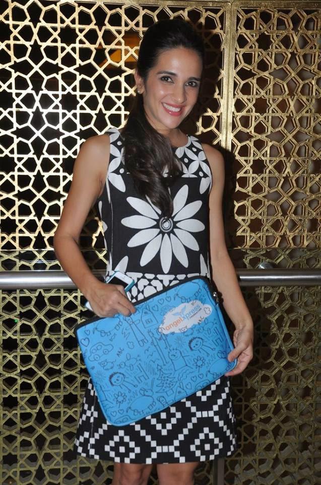 Tara Sharma Strikes A Smiling Pose During Footsteps Good's Fund Raiser Event