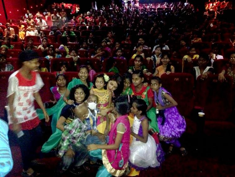 PC Held A Special Screening Of Mary Kom For The Children Of St. Catherine's Home And The Cancer Patients Of TMH