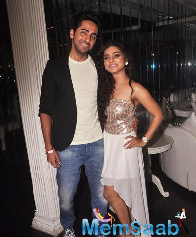 Ayushmann Khurrana And Neha Marda Posing For Shutterbug At Birthday Bash