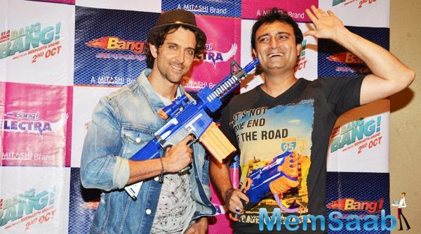 Hrithik Roshan Fun With Mr.Adnan Chara At Mitashi Bang Toys Guns Event