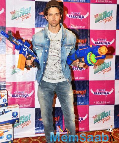 Hrithik Roshan Promotes Bang Bang And Launch Mitashi Bang Toys Guns