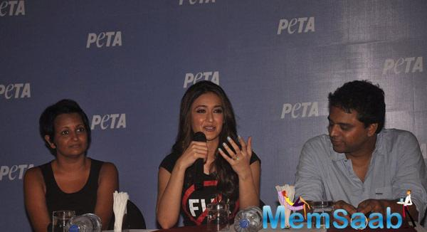 Ileana D'Cruz Launched The New Campaign Peta Advertisement In Mumbai,