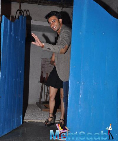 Ranveer Is Clicked Here At A Restaurant Olive In Mumbai